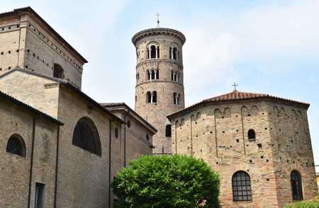 The Baptistry of Neon and the Paleochristian bell tower, Ravenna, Italy