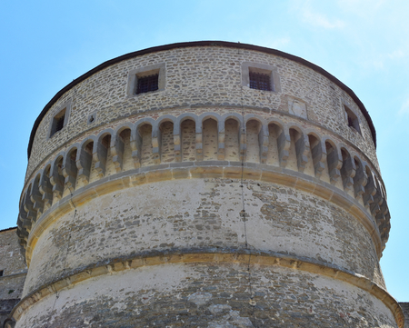 A tower of the Fortress of San Leo, San Leo, Italy Editorial