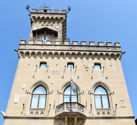 Public Palace, City of San Marino, Republic of San Marino. San Marino is the oldest surviving sovereign state and constitutional republic in the world: it was founded on 3 September 301 by Marinus of Arba.