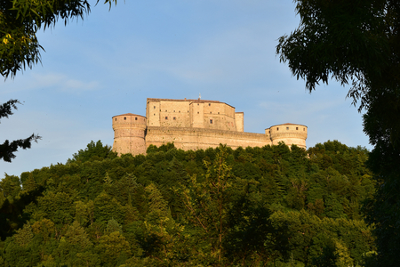 The Fortress of San Leo at sunset, San Leo, Italy