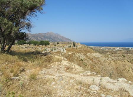 The view from the Byzantine Antimachia Castle, Kos island, Greece