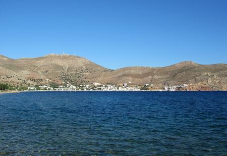 Livadhia, the port and main town of Tilos island, Greece