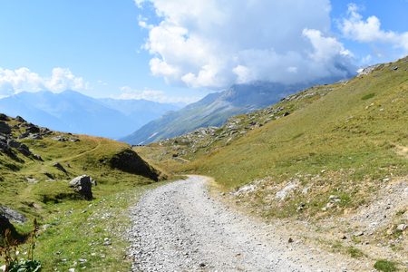A road rising, Vanoise National Park, France