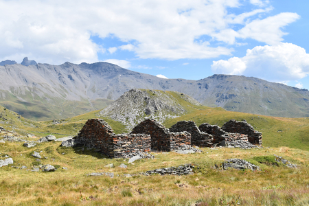 Old ruins in the Vanoise National Park, France