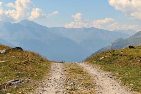 A road rising up in the mountains, Vanoise National Park, France