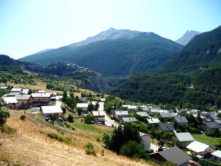 A little town in Vanoise National Park, France