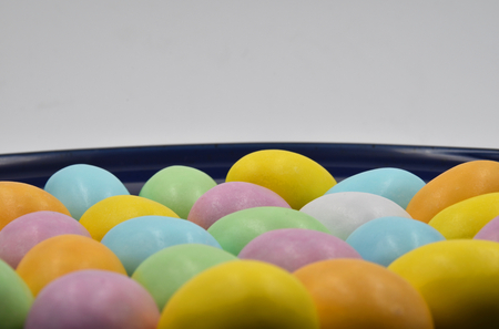 Close up of colorful Easter eggs. Suitable to be used like a background. Stock Photo