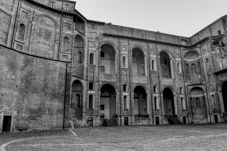 Farnese Palace, Viscontea Citadel or Fortress in Piacenza, Italy. HDR effect.