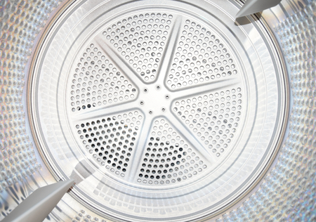 Interior of a dryer Stock Photo