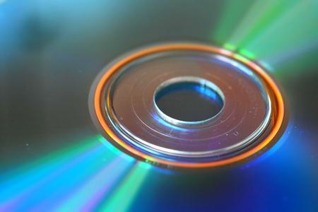 A close up of a cd.