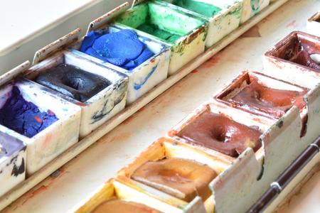 Watercolors palette