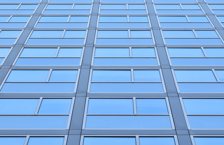 Windows in a light blue skyscraper, suitable to be use like a background Stock Photo