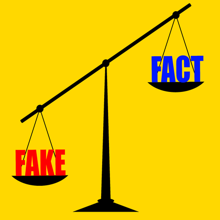 Fake and fact: fakes news and reality on internet today.