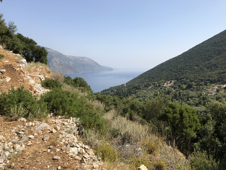Countryside of Ithaka or Ithaca island in Greece