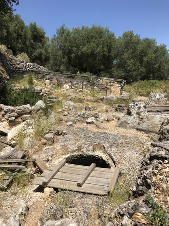 Archaeological site of Homer School in Ithaka or Ithaca island in Greece.