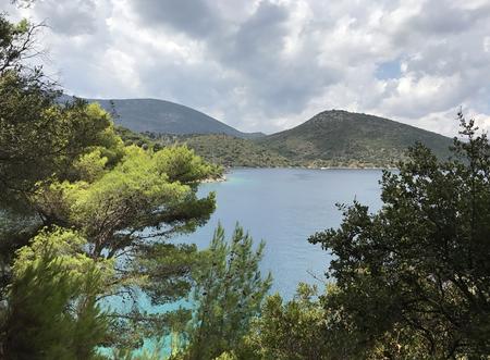 Landscape in Ithaka or Ithaca in Greece
