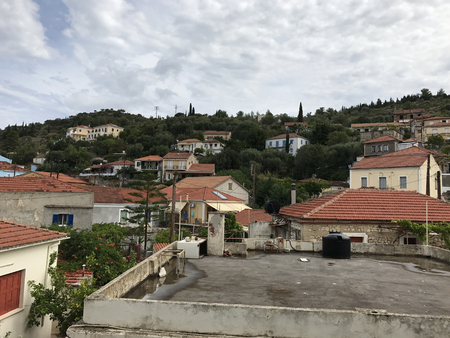 Vathy or Ithaki, the main town of Ithaka or Ithaca in Greece
