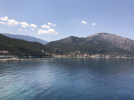 The port of Poros, in the south of Kefalonia island in Greece. Editorial