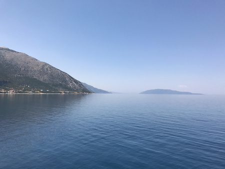 The coast of Kefalonia during summer, Greece.