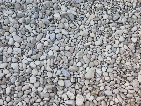 Small white stone of a beach. Suitable to be used like a background. Stock Photo