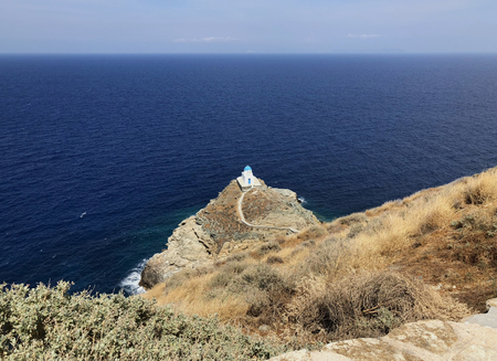 Church of the Seven Martyrs, Kastro in Sifnos island in Greece.