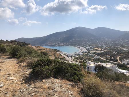 Platis Gialos village and bay, in Sifnos island in Greece.