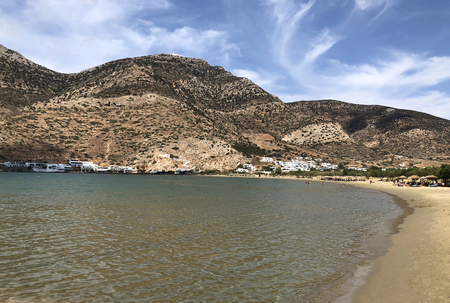 Kamares beach and bay, in Sifnos island in Greece.