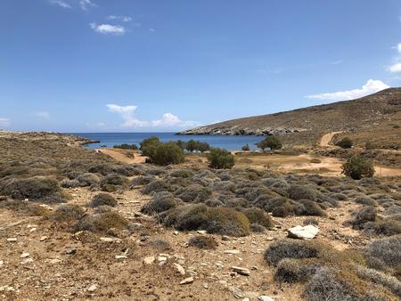 Serifos island coast in Greece.