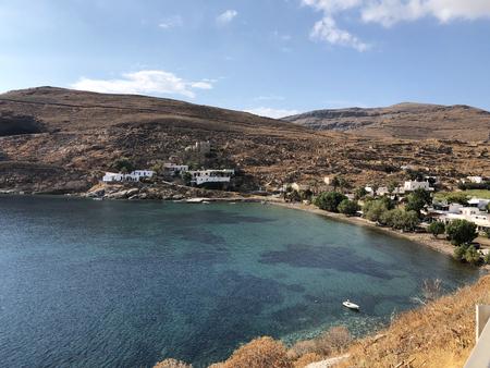 Megalo Livadi bay in Serifos island, Greece.