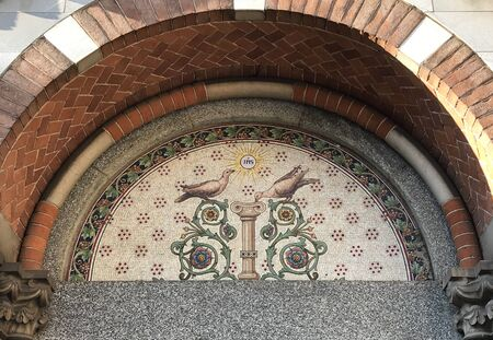 Detail of the church of Saint Pietro martyr in Monza, Italy.