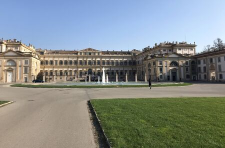 Royal Villa of Monza, Italy in a sunny day with blue sky.
