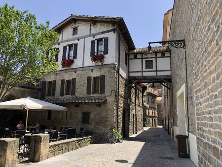 The ancient historical center of Pamplona in Spain