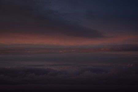 twilight sky with clouds
