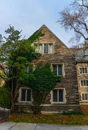 PRINCETON, NJ USA - NOVENBER 12, 2019: a view of Foulke Hall at Princeton University.