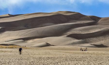 Desert landscape, Great Sand Dunes National Park, Colorado, USA