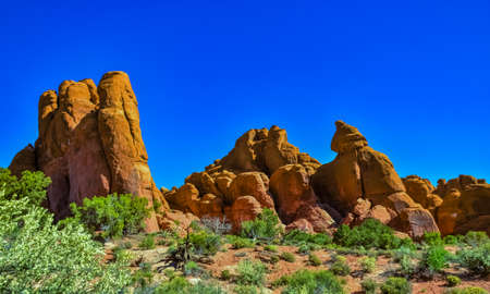 Eroded landscape, Arches National Park, Moab, Utah, USA