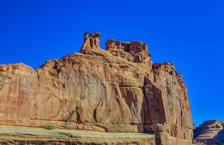 Eroded landscape, Arches National Park, Moab, Utah, USA