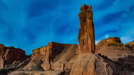 Erosion red rocks. Canyonlands National Park is in Utah near Moab, USA 스톡 콘텐츠
