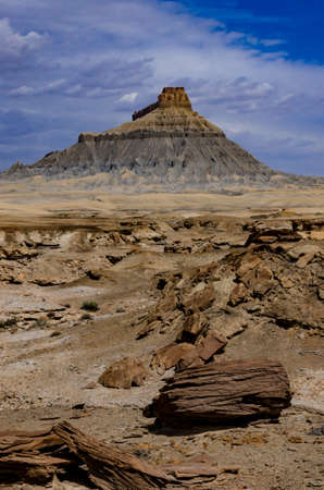 Factory Butte is a summit in Wayne County, Utah, in the United States