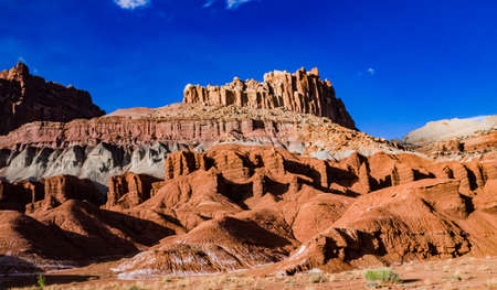 Layered clay and stone geological formations in Canyonlands NP is in Utah, USA Zdjęcie Seryjne