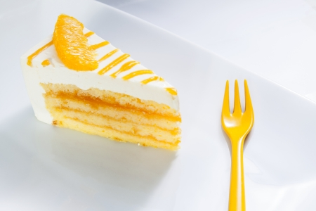Orange Cheesecake Stock Photo - 18529402