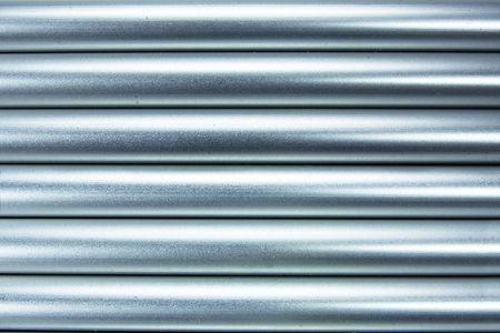 aluminium buizen achtergrond Stockfoto