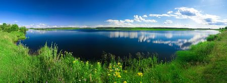 beautiful summer water landscape photo