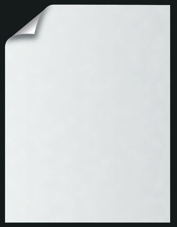blanco papier met zwarte krullen over
