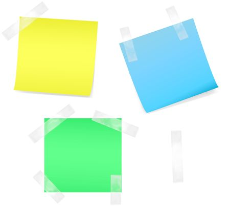 Colored notes paper Stock Photo - 3998781