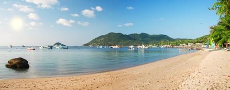 koh: panoramic beach. Koh tao island. Thailand
