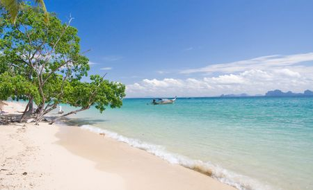 mountin: beautiful tropical beach