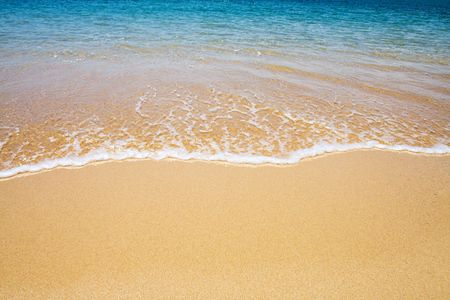 beach and wave background Stock Photo