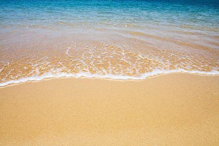 strand en golf achtergrond