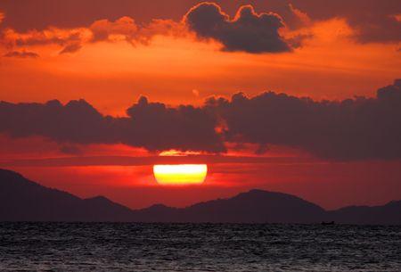 Red Sunset Stock Photo - 6099305